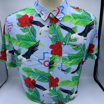 Hawaiian Camp Shirt Seagulls