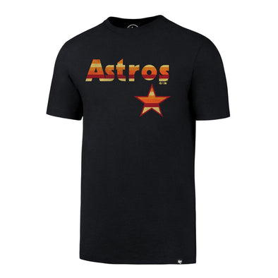 Houston Astros Men's '47 Brand Rainbow Wordmark T-Shirt