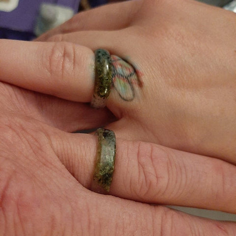 cannabis emerald amethyst resin ring review