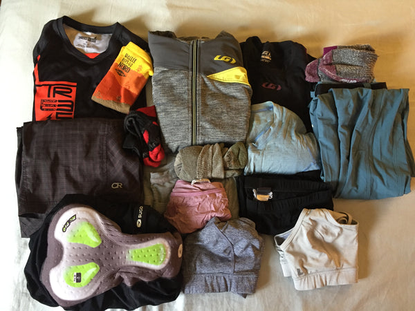 Bikepack clothing for 3 days