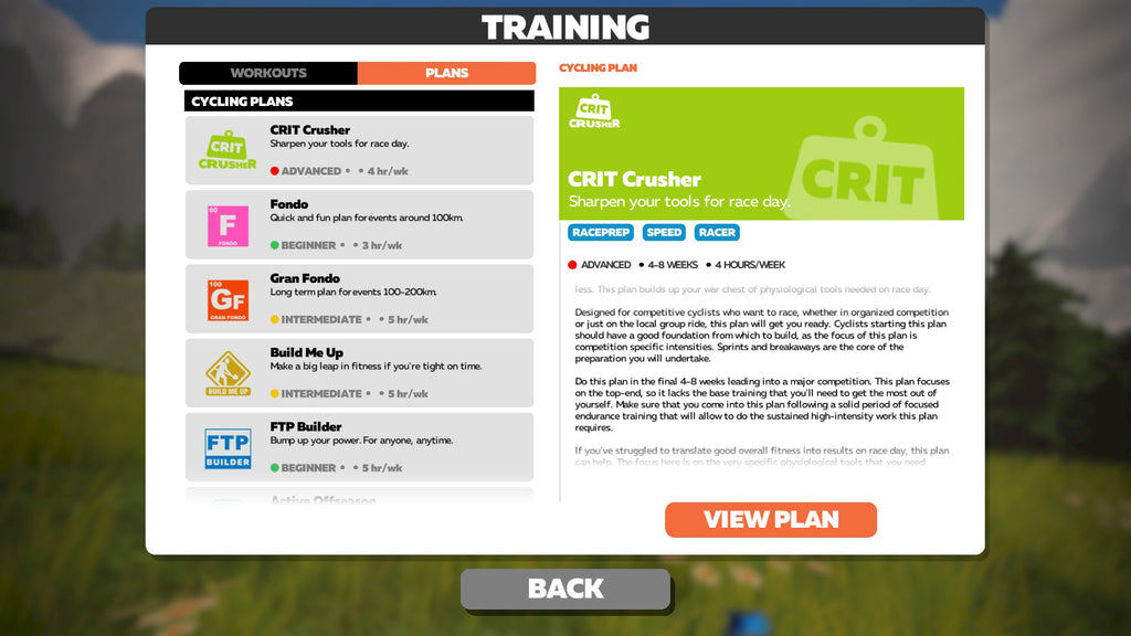 Zwift Structured Programs