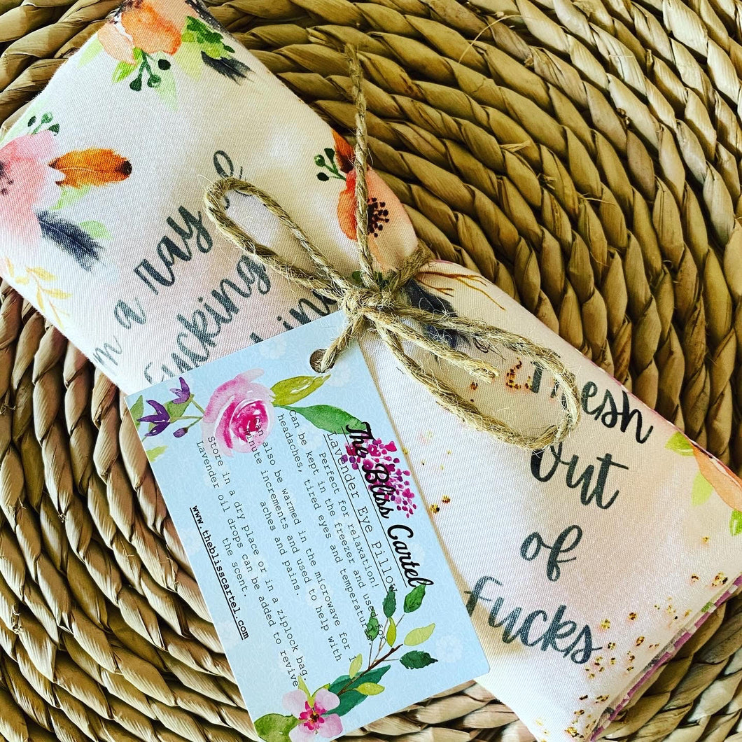 Boho Swears Peach Lavender Eye Pillow