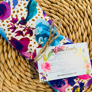 Gold Spotty Floral Lavender Eye Pillow