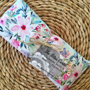 White Floral Eye Pillow
