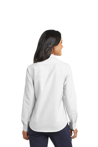 Port Authority Ladies SuperPro Oxford Long Sleeve Shirt (with logo)