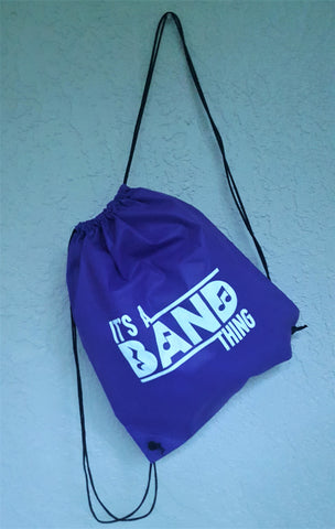 It's A Band Thing Drawstring Bag