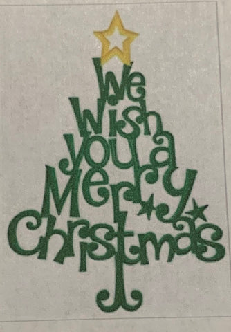 We Wish You A Merry Christmas - Tree Hand Towel - Personalized