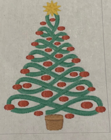 Christmas Tree Design - Hand Towel - Personalized