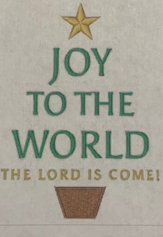 Joy To The World - Tree Design Hand Towel - Personalized