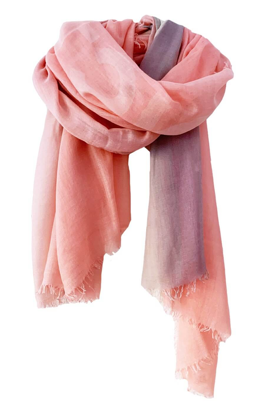 D/Luca Sanctuary Blush Stories - Fine Silk Cashmere Scarf