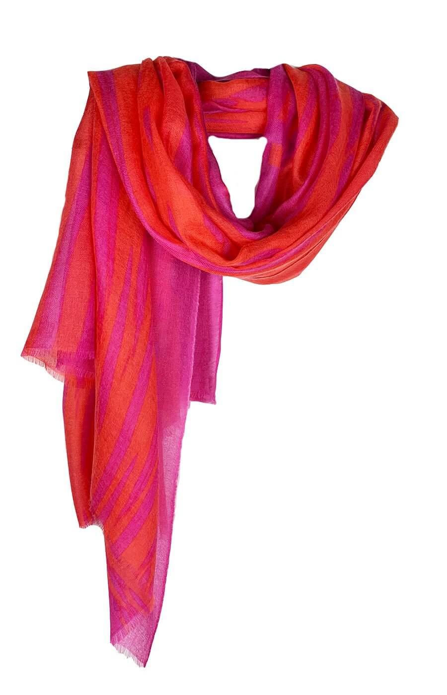 D/Luca Feather Unconditional Fire - Fine Cashmere Scarf