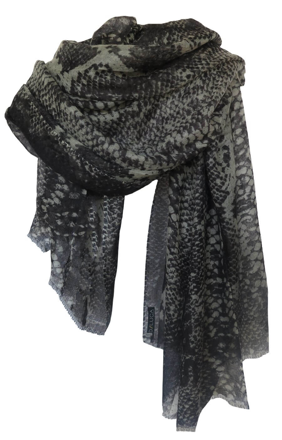 D/Luca Snake Night Shades Statement - Fine Cashmere Scarf