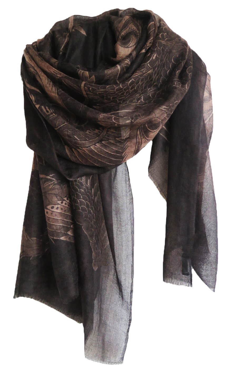 D/Luca Bird of Paradise Night Shades - Fine Cashmere Scarf