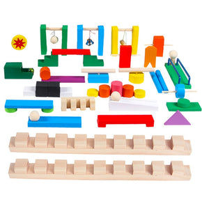 Wooden Domino Building Set