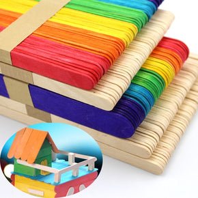 Popsicle Craft Sticks - 50pcs