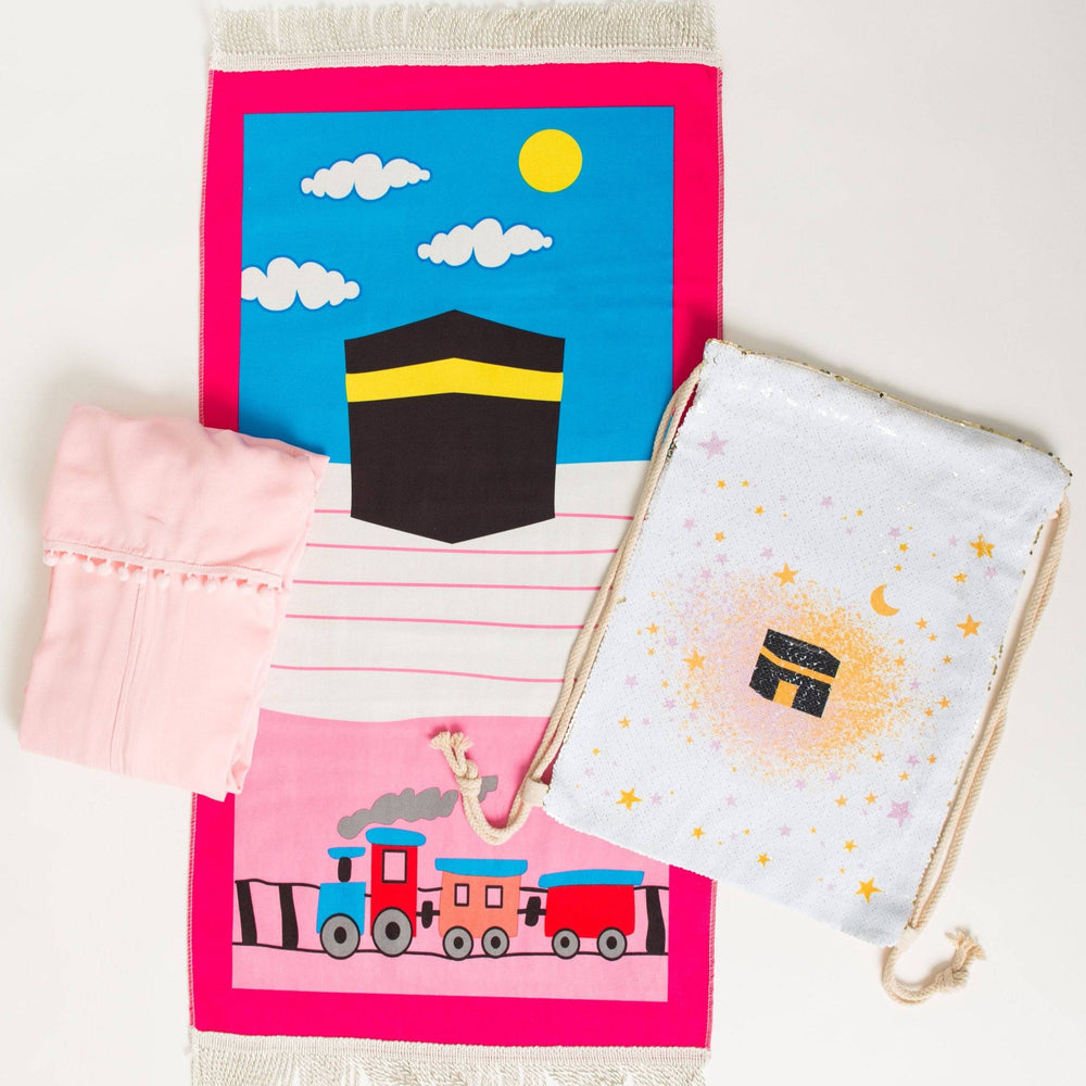 Girls Kaaba Prayer Set