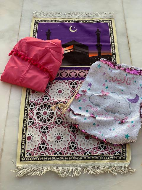 Girls Prayer Set Fuchsia - FathakirrStore