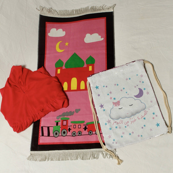 Girls Prayer Set Fuchsia