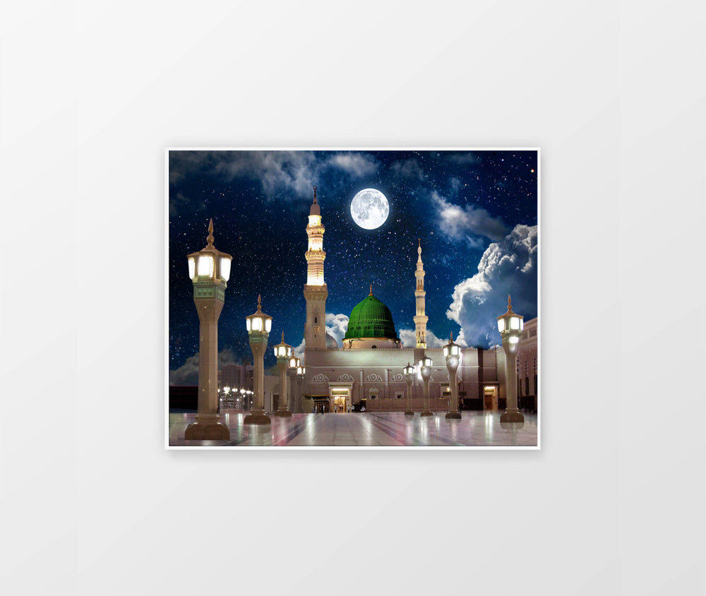 Madina Alharam Night Canvas