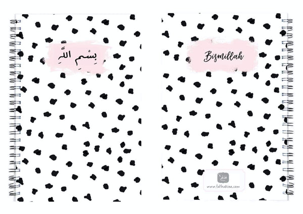 Black & White Polka Dots Notebook - FathakirrStore