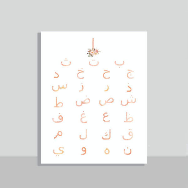 Alphabets bouquet Poster & Sticker - FathakirrStore