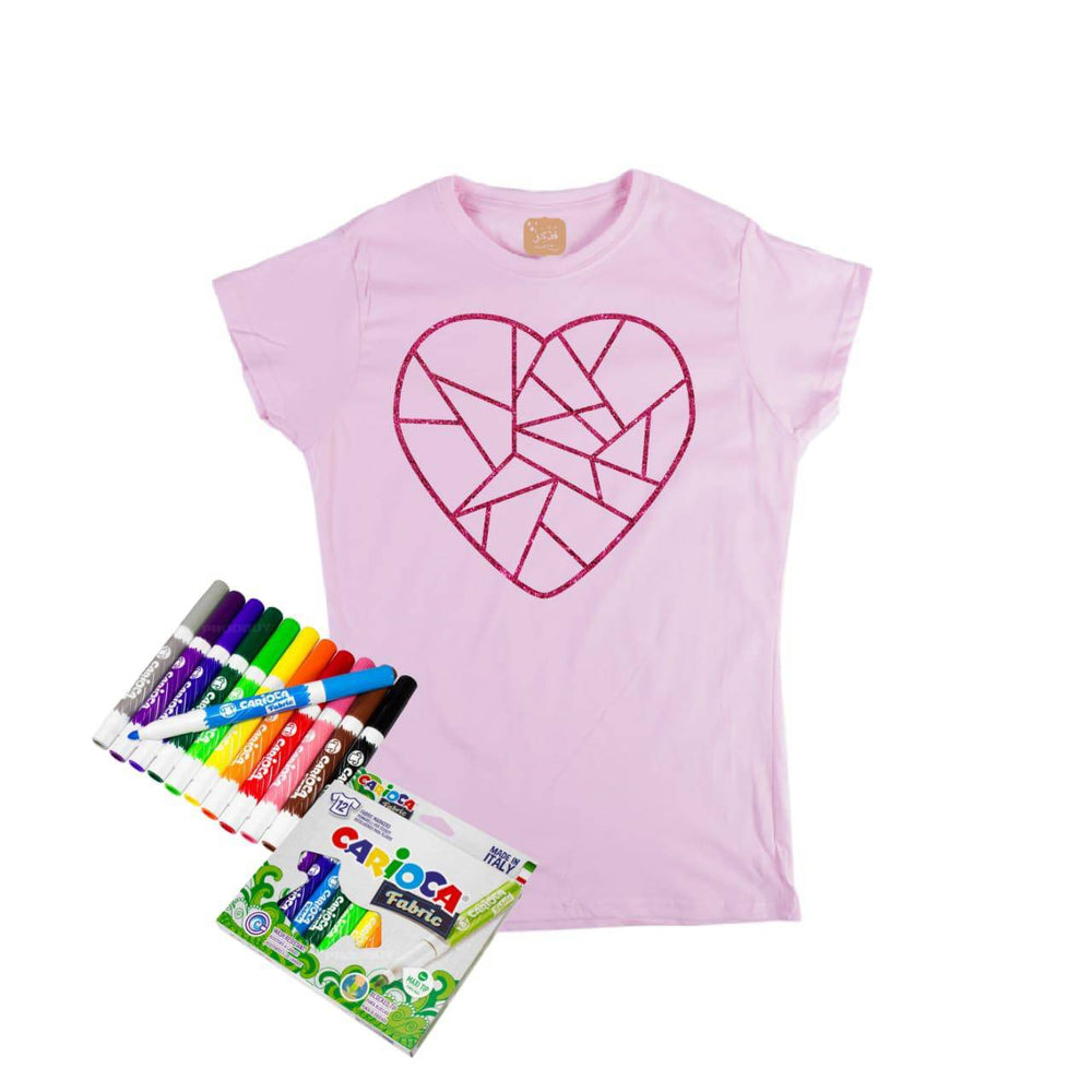 Girl's Shapes Hand Paint T-shirt