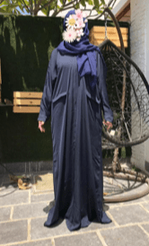 Blue Abaya with Blue Veil