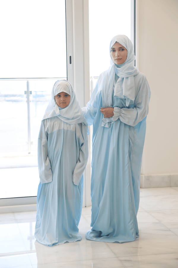 Girls Prayer Wear Shades of Blue - FathakirrStore