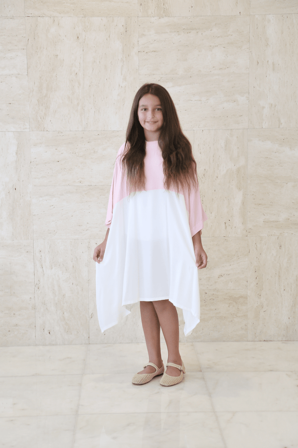 Girl's Pink Candy Midi Dress - FathakirrStore