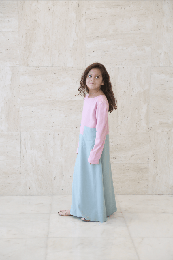 Girl's Long Pocket Dress - FathakirrStore