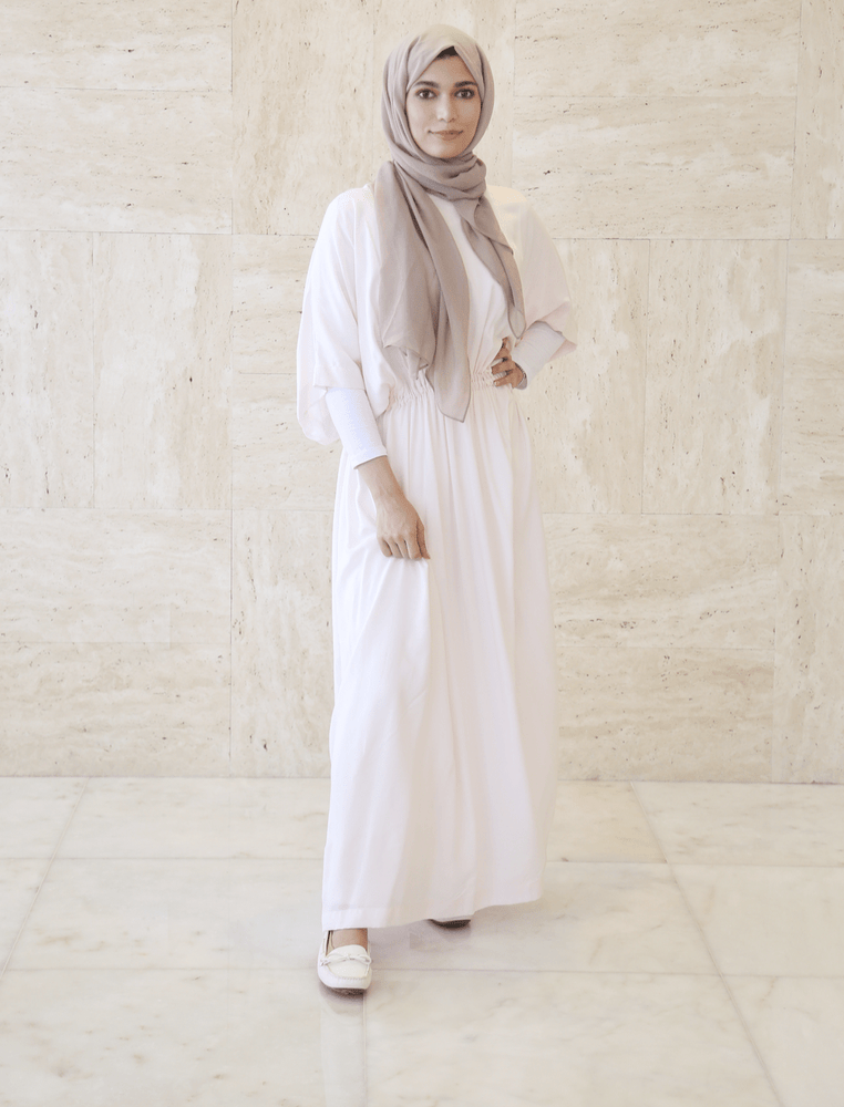 Women's Long Off White Dress