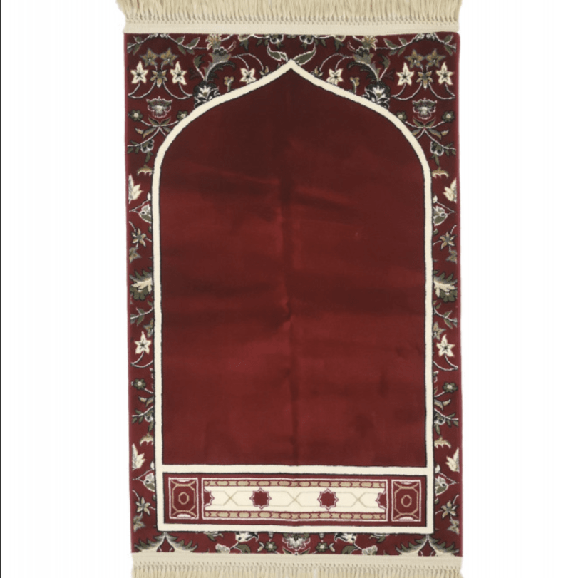Imam Of Makkah Haram Prayer Mat Red