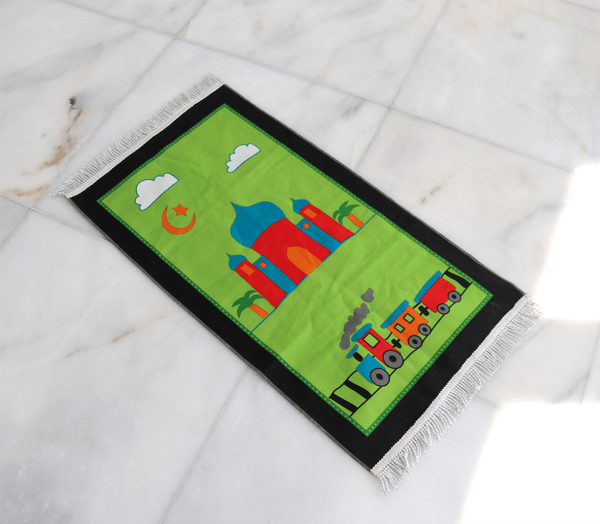 Aqsa Green Prayer Mat - FathakirrStore