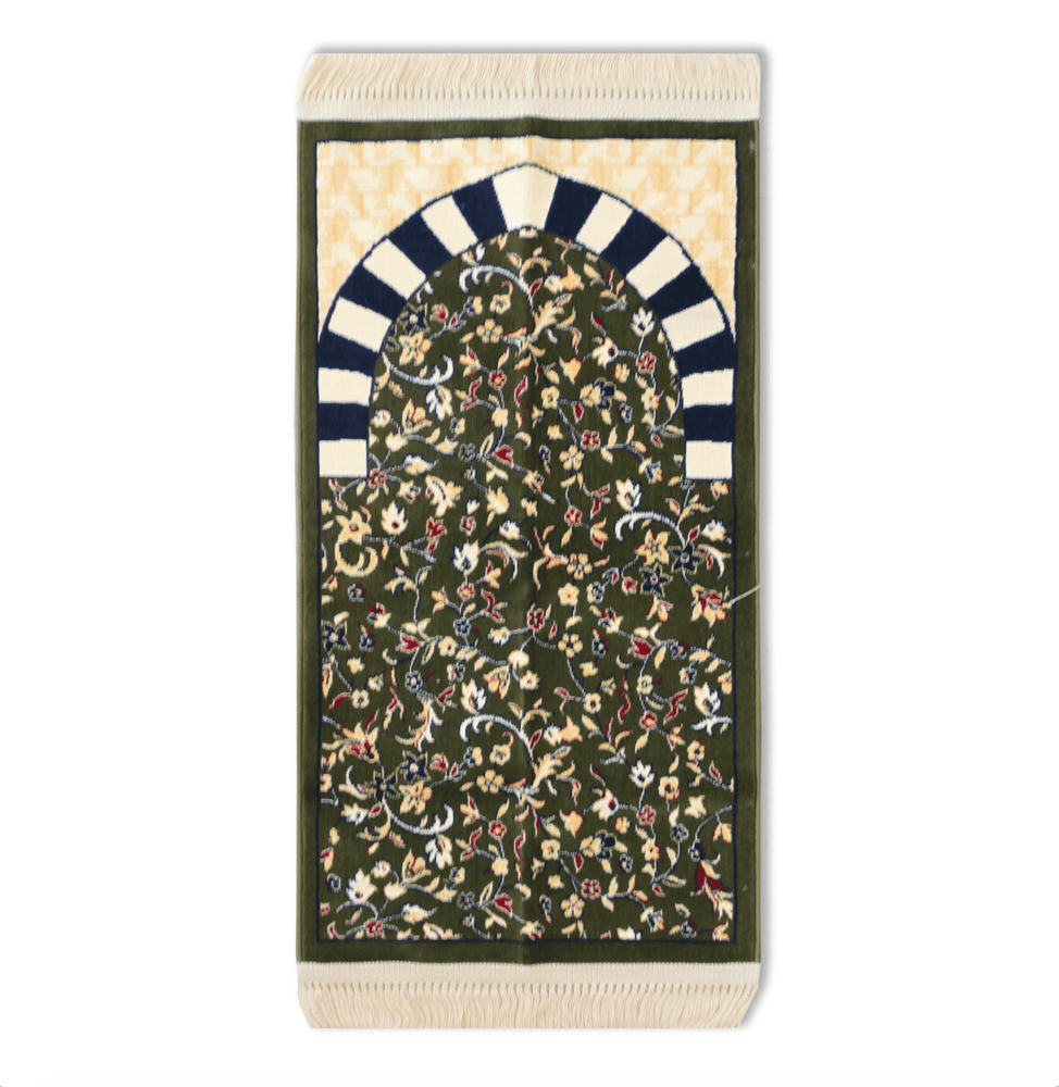 AlRawdah Kids Prayer Mat Green