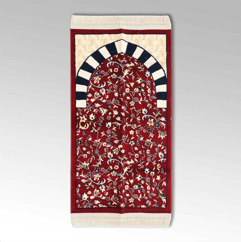 AlRawdah Kids Prayer Mat Red