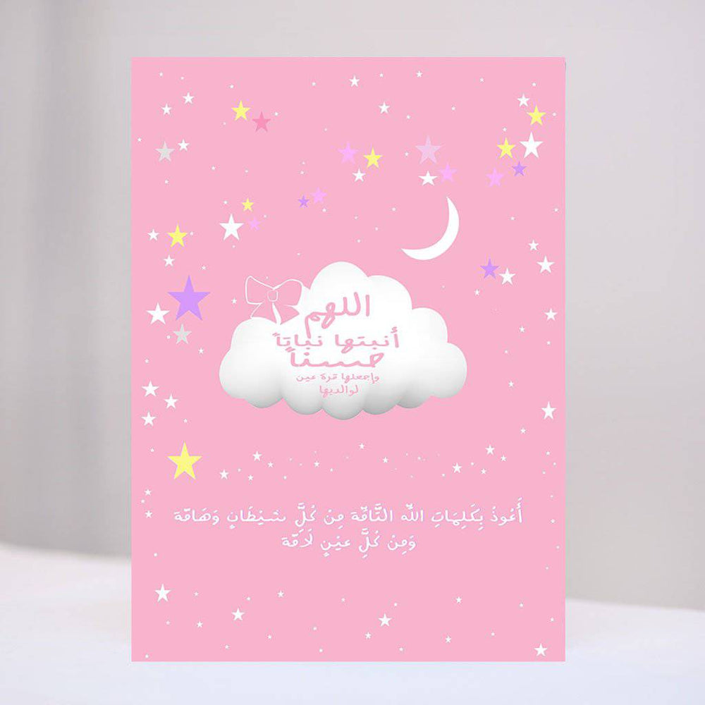 Newborn Girls Cloud Canvas