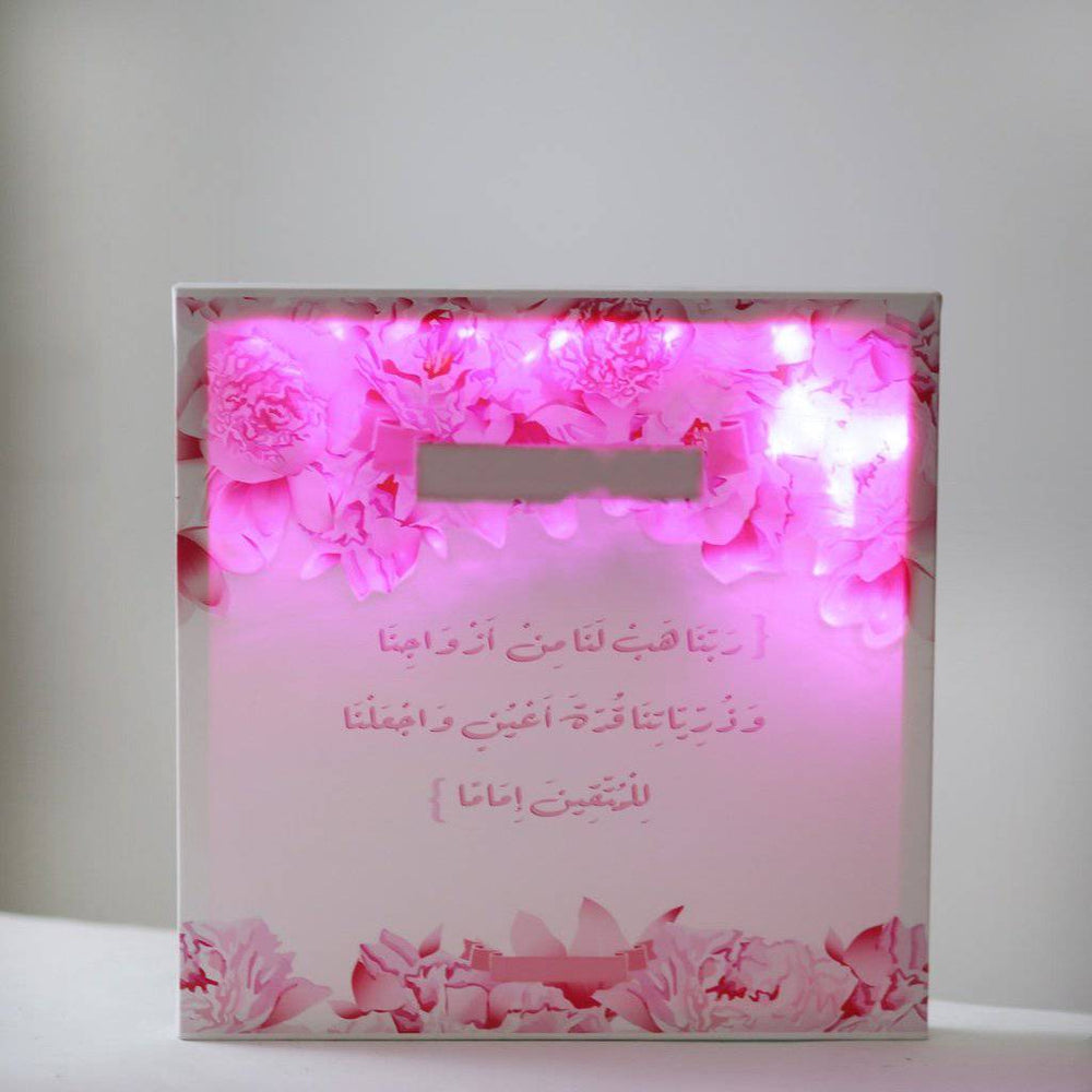 Marriage Pink Flowers Canvas