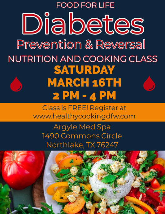 Diabetes Prevention & Reversal - NORTHLAKE - March 16 2-4pm