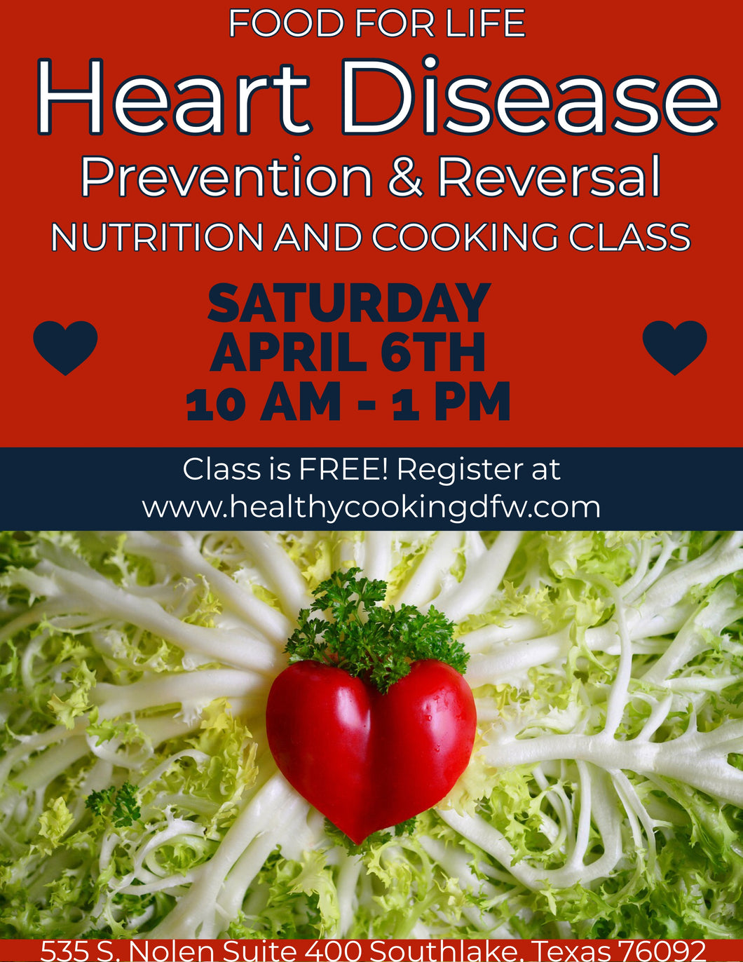 Heart Disease Prevention - SOUTHLAKE - Apr 6 10am-12pm