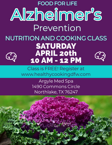 Alzheimer's Prevention - NORTHLAKE - Apr 20  10a-12p