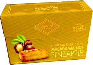 Diamond Bakery Premium Hawaiian Macadamia Nut Shortbread Cookies, Pineapple - Alii Snack Company