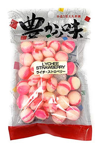 Daimaru Lychee Strawberry Japanese Hard Candy 3.6 oz - 30 PACK - Alii Snack Company