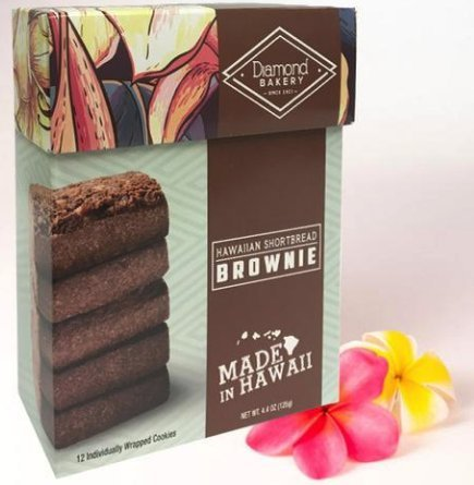 Diamond Bakery Hawaiian Shortbread Brownie Cookies 4.4 oz - Alii Snack Company