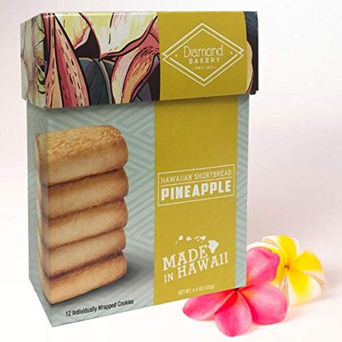 Diamond Bakery Hawaiian Shortbread Pineapple Cookies 4.4 oz - Alii Snack Company