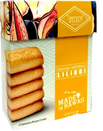 Diamond Bakery Lilikoi Hawaiian Shortbread Cookies - Alii Snack Company