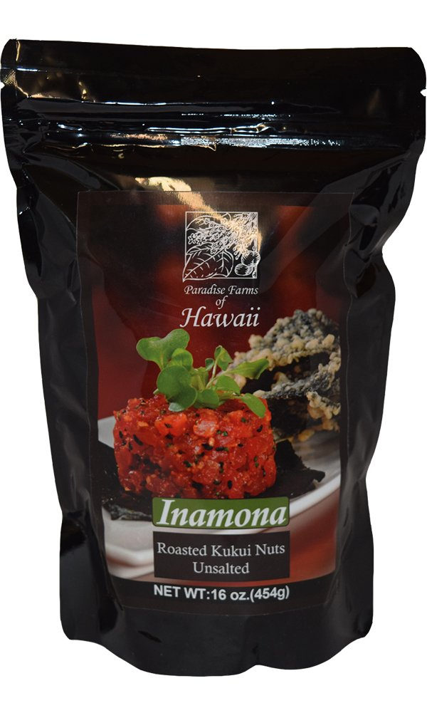 Paradise Farms of Hawaii - Inamona Roasted Kukui Nuts 16 oz - Alii Snack Company