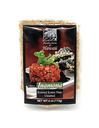 Paradise Farms of Hawaii - Inamona Roasted Kukui Nuts 4oz (113g) - Alii Snack Company