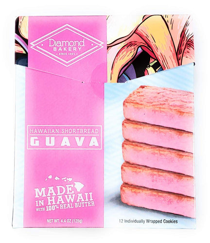 Diamond Bakery Hawaiian Shortbread Guava Cookies 4.4 oz - Alii Snack Company
