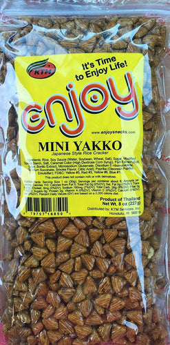 Enjoy Hawaii Mini Yakko Japanese Arare Style Rice Crackers 8 oz. bag - Alii Snack Company