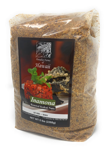 Paradise Farms of Hawaii - Inamona Roasted Kukui Nuts (2) ea 5 lb bags - 10 lb Total - Alii Snack Company
